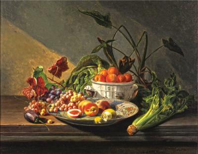 ⁂Купить натюрморт: Фрукты и овощи — Бельгийский художник ...