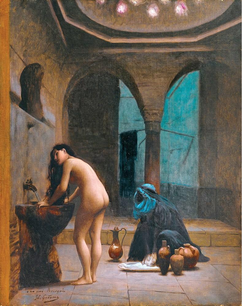 купания в женской бане