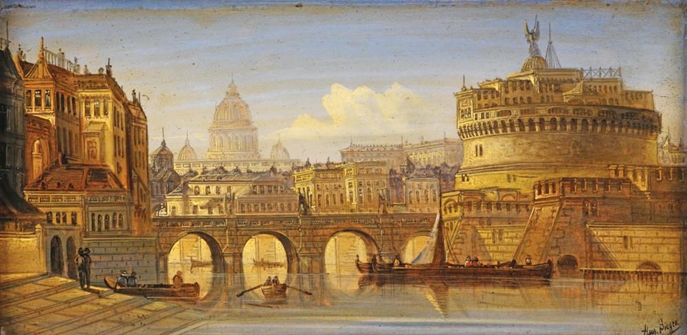 Старинная архитектура в картинах художников