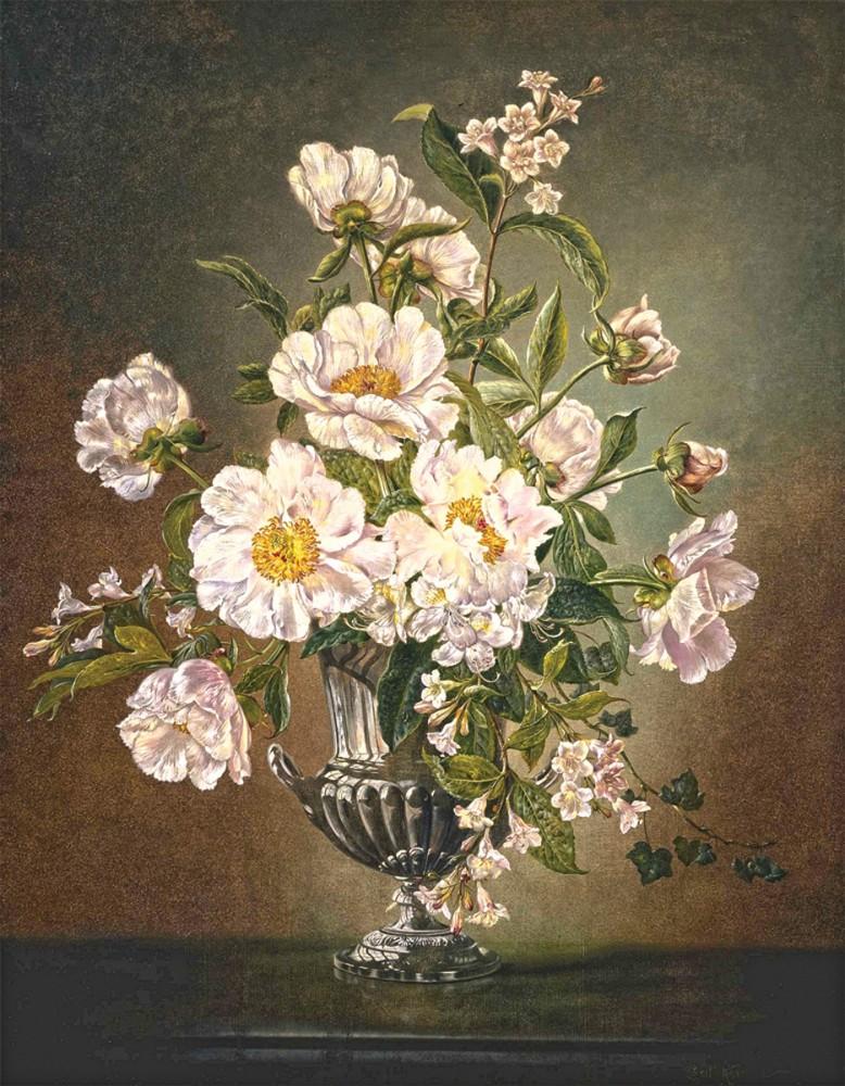Модульные картины цветы в вазе