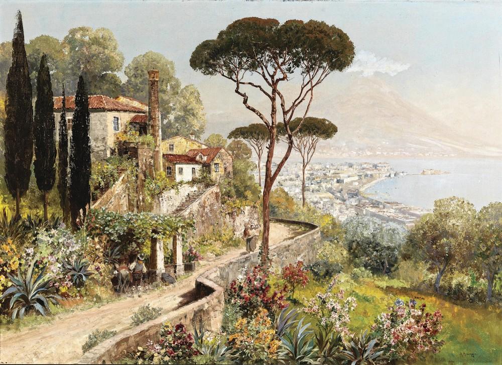 постер картины итальянские пейзажи неотвратимая