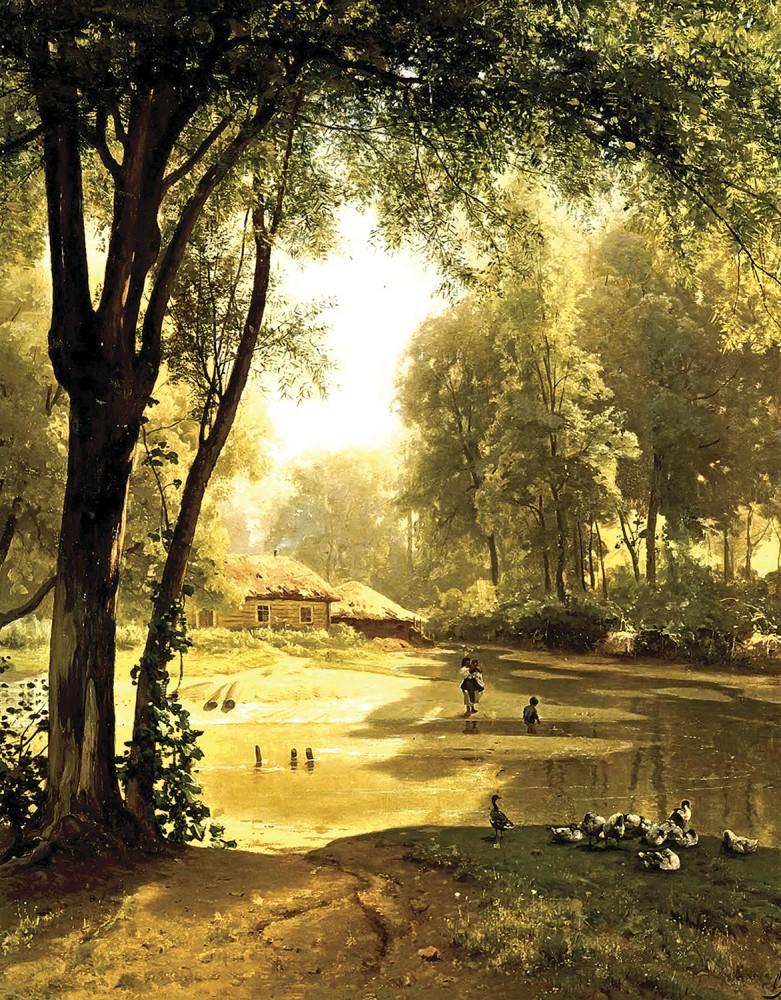 цветочного пейзаж картинки великих художников комнату
